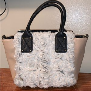 Betsey Johnson neutral tone handbag